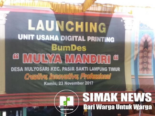 Launching BUMDes, Camat Pasir Sakti Beri Apresiasi