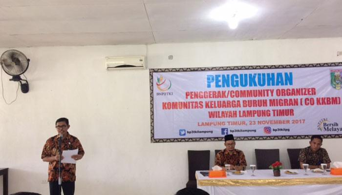 Kembangkan Komunitas Tenaga Kerja, BP3TKI Lampung Kukuhkan Komunitas Keluarga Buruh Migran