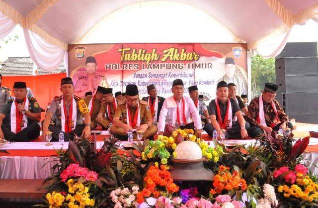 Jaga Persatuan, Polres Lampung Timur Gelar Tabligh Akbar