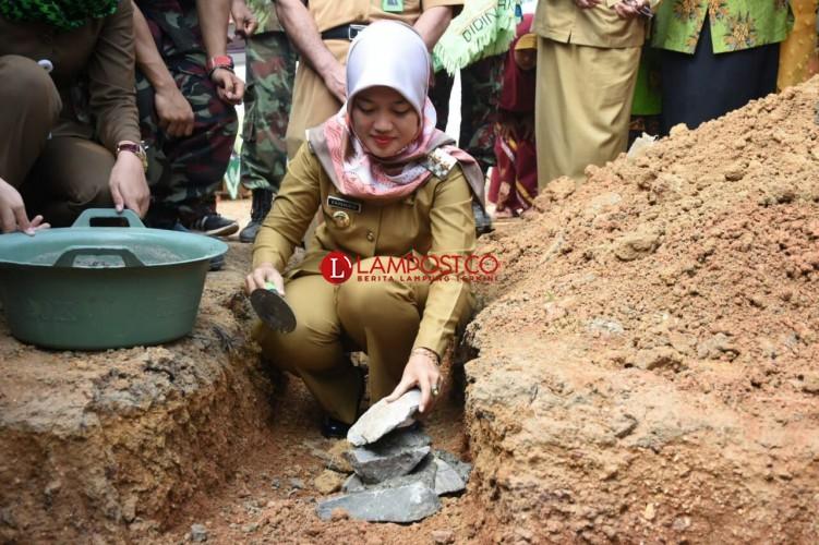 Pembangunan Masjid dan Asrama MTs Muhammadiyah Way Bungur Dimulai