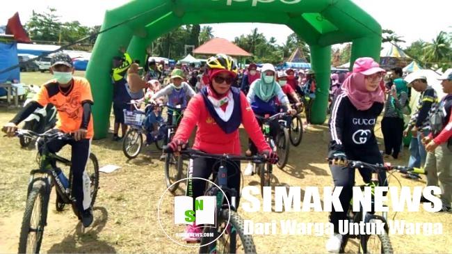 HUT Desa Adirejo ke-53 Dimeriahkan Ratusan Peserta Fun Bike