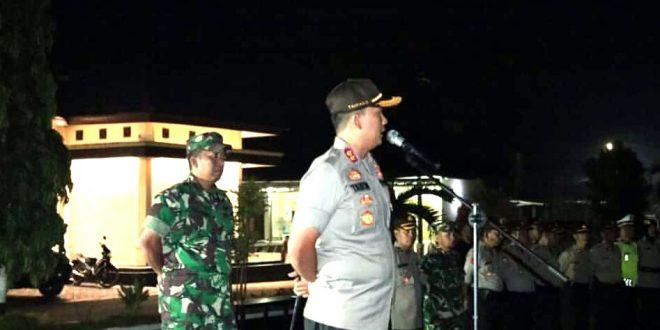 Personil Polri & TNI, Siaga Di Lampung Timur