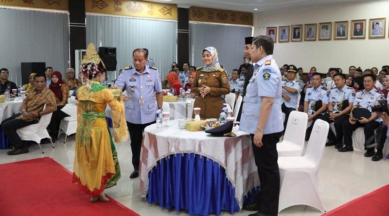 Wagub Chusnunia Hadiri Pisah Sambut Kakanwil Kemenkumham Lampung