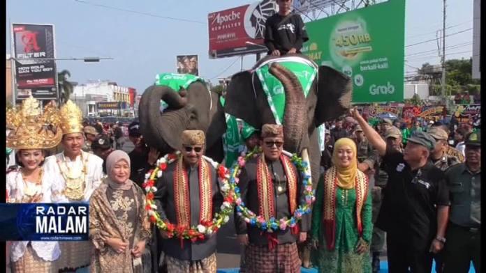 Pawai Budaya Lampung Krakatau Festival, 3 Daerah Absen