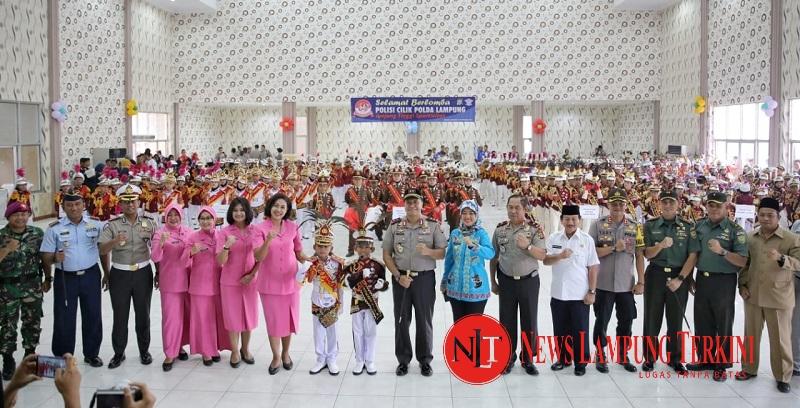 Wagub Chusnunia Hadiri Lomba Polisi Cilik Piala Bergilir Kapolda Lampung