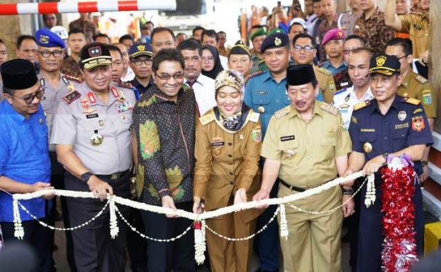 Wagub dan Dirut Pelindo Resmikan Auto Gate System Pelabuhan Panjang
