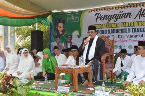Wakil Gubernur Chusnunia dan Bupati Dewi Handajani Hadiri Peringatan Hari Santri di Tanggamus