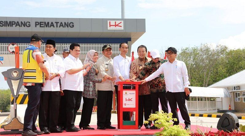 Gubernur Arinal dan Wagub Dampingi Presiden Jokowi Resmikan Jalan Tol Terbanggi Besar-Kayu Agung