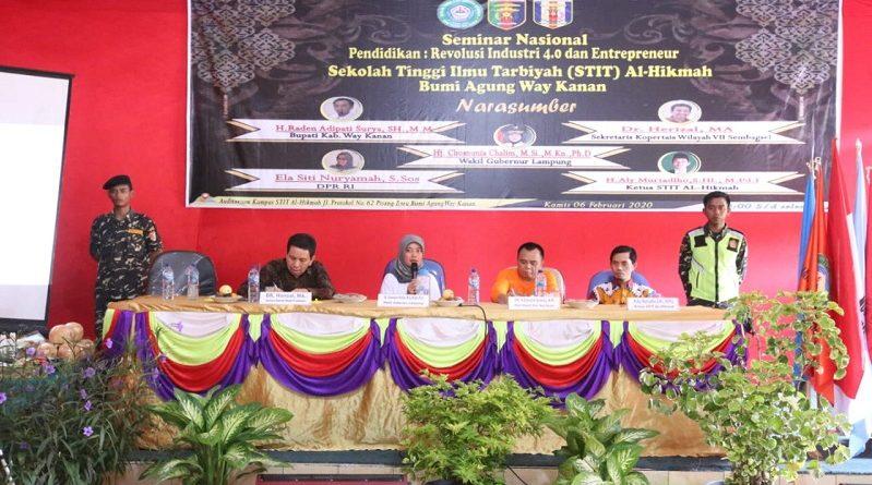Wagub Chusnunia Beri Kuliah Umum di Kampus STIT Al-Hikman Way Kanan