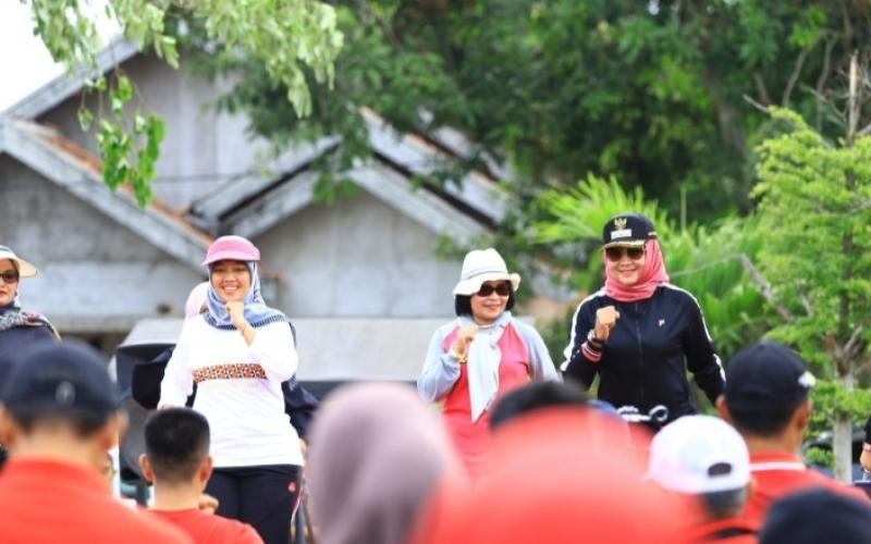 Kunker Wagub Chusnunia, Pemkab Tuba Dukung Program Pemprov Lampung