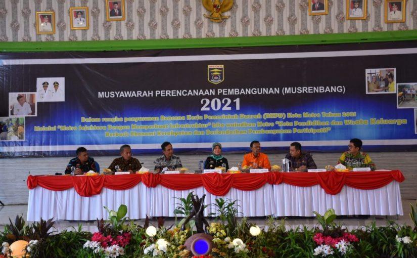 Musrenbang 2021, Wakil Gubernur Chusnunia inginkan Kota Metro prioritaskan SDM dan perekonomian